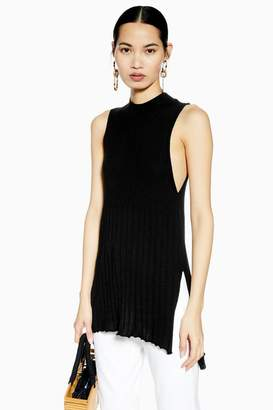 3fe3d5e322641 Topshop Knitted Ribbed Long Line Tank Top