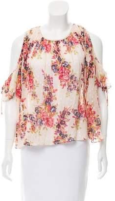 Needle & Thread Short Sleeve Floral Print Blouse