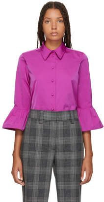 Marc Jacobs Pink Ruffle Sleeve Shirt