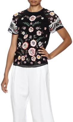 Needle & Thread Sequin Floral Blouse $265 thestylecure.com