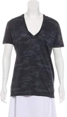 Monrow Camouflage Short Sleeve Top