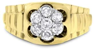 14k Yellow Gold 0.50ct. Diamond Mens Ring Size 7.0