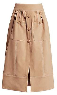 Rosie Assoulin Women's Button-Me-Up Midi Skirt
