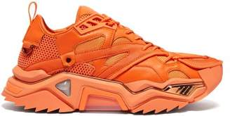 Calvin Klein Strike 205 Mesh And Leather Trainers - Mens - Orange