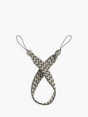 John Lewis Woven Belt Tieback, Silver