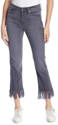 Good American Straight Leg Fray Hem Jeans