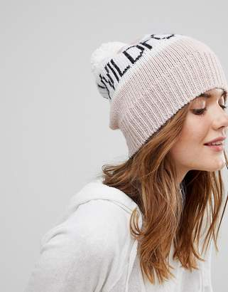 Wildfox Couture Knitted Beanie with Pom Pom