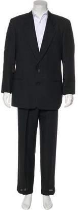 Giorgio Armani Wool Notch-Lapel Cuffed Suit