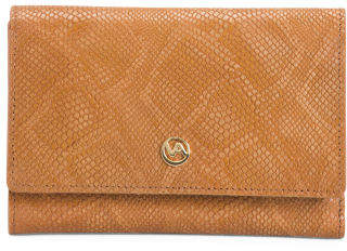 Made In Italy Leather Snake Printed Wallet