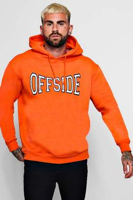 boohoo Off Side Large Chest Print Hoodie