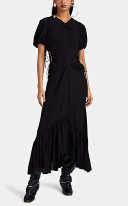 Proenza Schouler Women's Cinched-Cutout Crepe Dress - Black