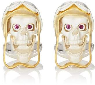 Deakin & Francis Men's Aviator Skull Cufflinks - Gold