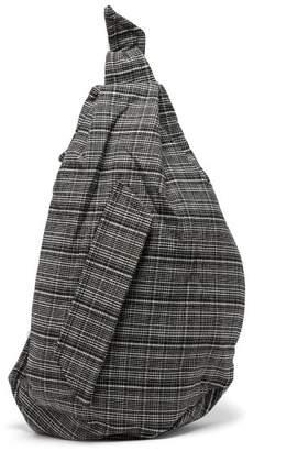 Raf Simons X Eastpak - Sling Tartan Tweed One Shoulder Backpack - Womens - Black White