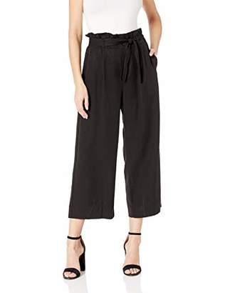Three Dots Women's TV6189 Twill Paper Bag Waist Crop Pant