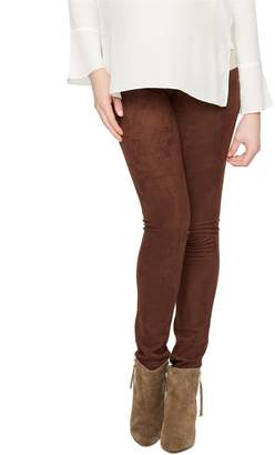 A Pea in the Pod Jeans Secret Fit Belly Faux Suede Maternity Legging
