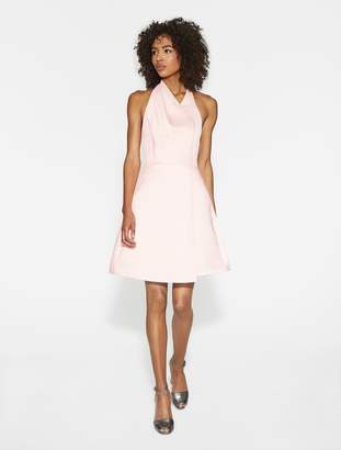 Halston Satin Faille Halter Dress