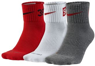 Men's Nike 3-pack Dri-FIT Fly Rise Crew Socks $20 thestylecure.com