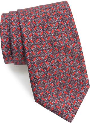 Brioni Medallion Geometric Silk Tie