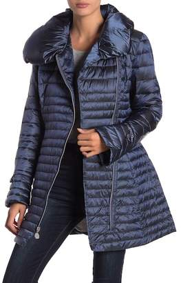 Laundry by Shelli Segal Asymmetrical Collar Quilted Jacket