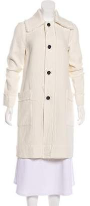 Raquel Allegra Button-Up Knee-Length Coat