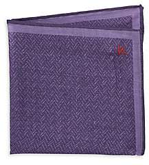Isaia Men's Woven Wool Pocket Square