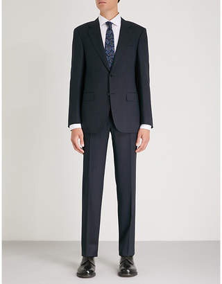 Canali Pindot-pattern tailored-fit wool suit