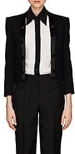 Givenchy Women's Satin-Trimmed Wool Twill Crop Blazer - Black