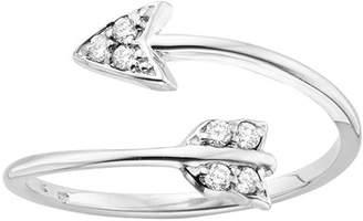 KC Designs 14K White Gold Diamond Arrow Ring - 0.09 ctw - Size 7