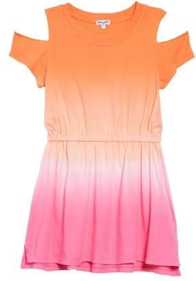 Splendid Dip Dye Cold Shoulder Dress