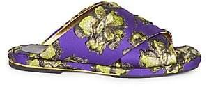 Dries Van Noten Women's Brocade Slide Sandals