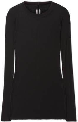 Rick Owens Ribbed-knit Top - Black
