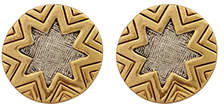 House Of Harlow Two Tone Engraved Sunburst Earrings
