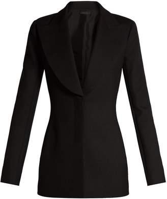 The Row Demilla peak-lapel wool-blend jacket