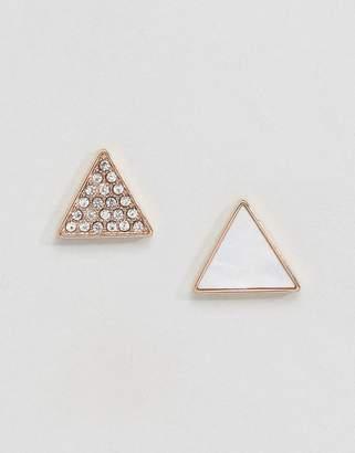 Emporio Armani Triangle Stud Set Earrings