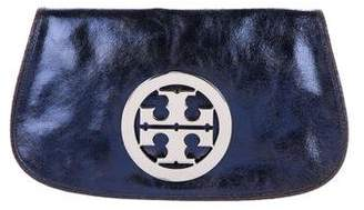Tory Burch Metallic Leather Reva Clutch