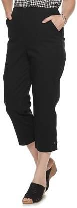 Croft & Barrow Women's Embellished Hem Pull-On Crop Jeans