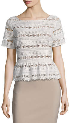 Tracy Reese Lace Flounced T-Shirt