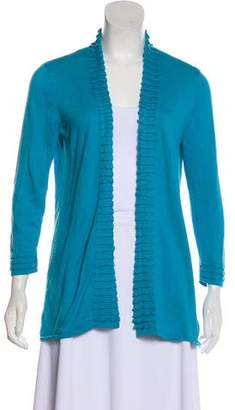 Magaschoni Silk & Cashmere-Blend Knit Cardigan