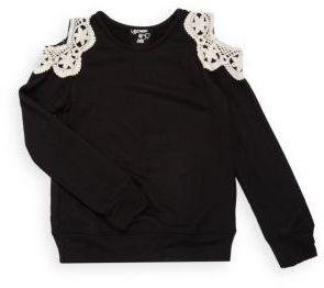Little Girl's Cold-Shoulder Sweatshirt $53 thestylecure.com