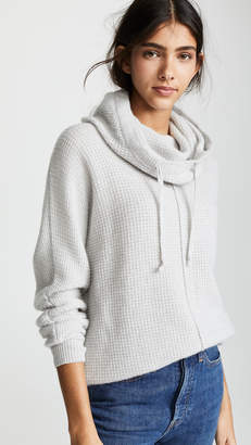 James Perse Thermal Stitch Cashmere Hoodie
