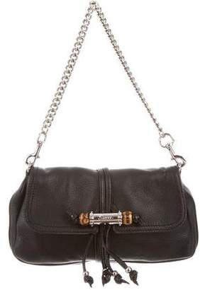 Gucci Pebbled Leather Croisette Evening Bag