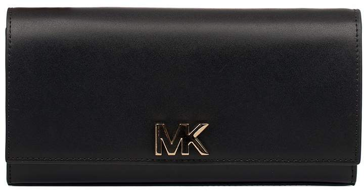 Michael Kors Black Leather Clutch - BLACK - STYLE