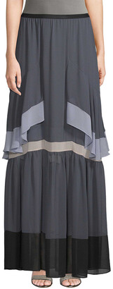 BCBGMAXAZRIA Tiered Maxi Skirt