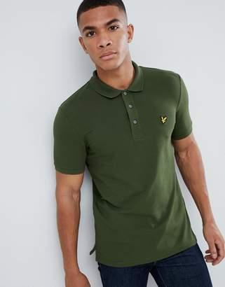 Lyle & Scott slim fit polo shirt with stretch in khaki