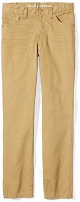 Kid Nation Boys Skinny Fit Five-Pocket Twill Pant 4