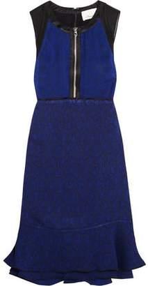 3.1 Phillip Lim Silk Satin-Trimmed Jacquard Mini Dress