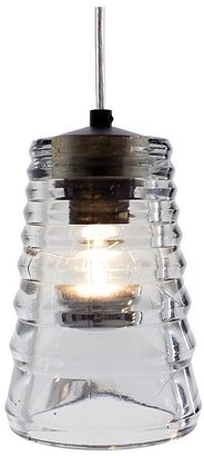 Tom Dixon Lucretia Lighting Replica Pressed Glass Tube Pendant Light