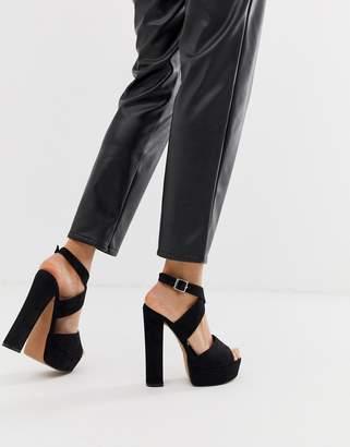 4ce0c522caa Asos Design DESIGN Hutchinson platform block heeled sandals