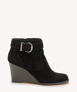 Sole Society Women's Peytal Wedges Bootie Black Size 5 Suede From