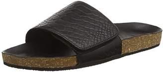 Black Lily Women's NELKE Sandal Open Toe Sandals Black Size: